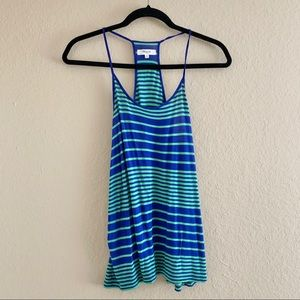 MADEWELL Striped Green Blue Tank Top